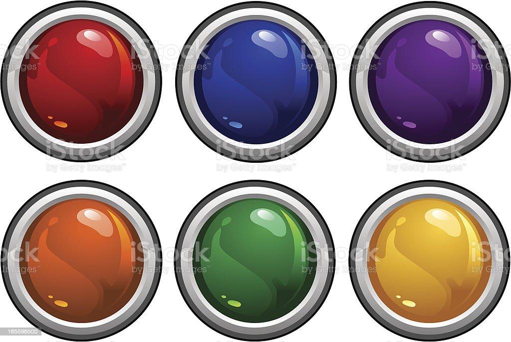 Botones brillante ilustración de botones brillante y más banco de imágenes de amarillo - color libre de derechos