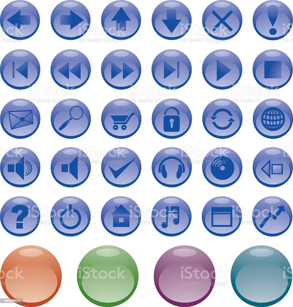 光沢のあるボタンがあります(最も役立つ - CD-ROMのロイヤリティフリーベクトルアート