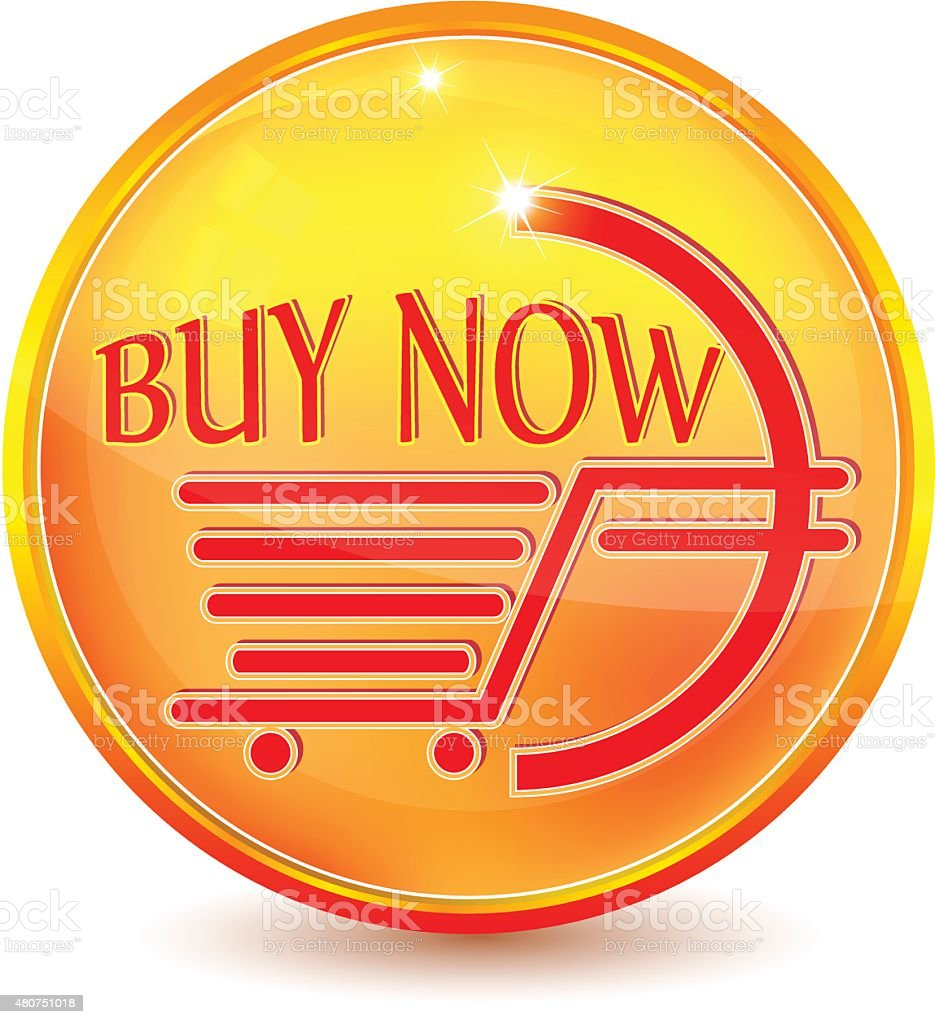 Glossy Buy Now orange web icon