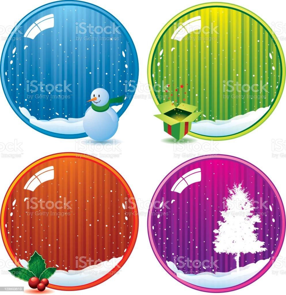 Glossy christmas balls vector art illustration
