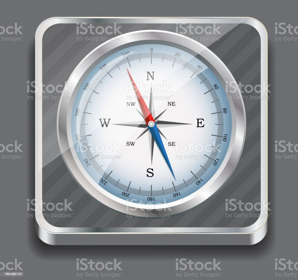 Glossy Compass. Vector Illustration. royalty-free stock vector art