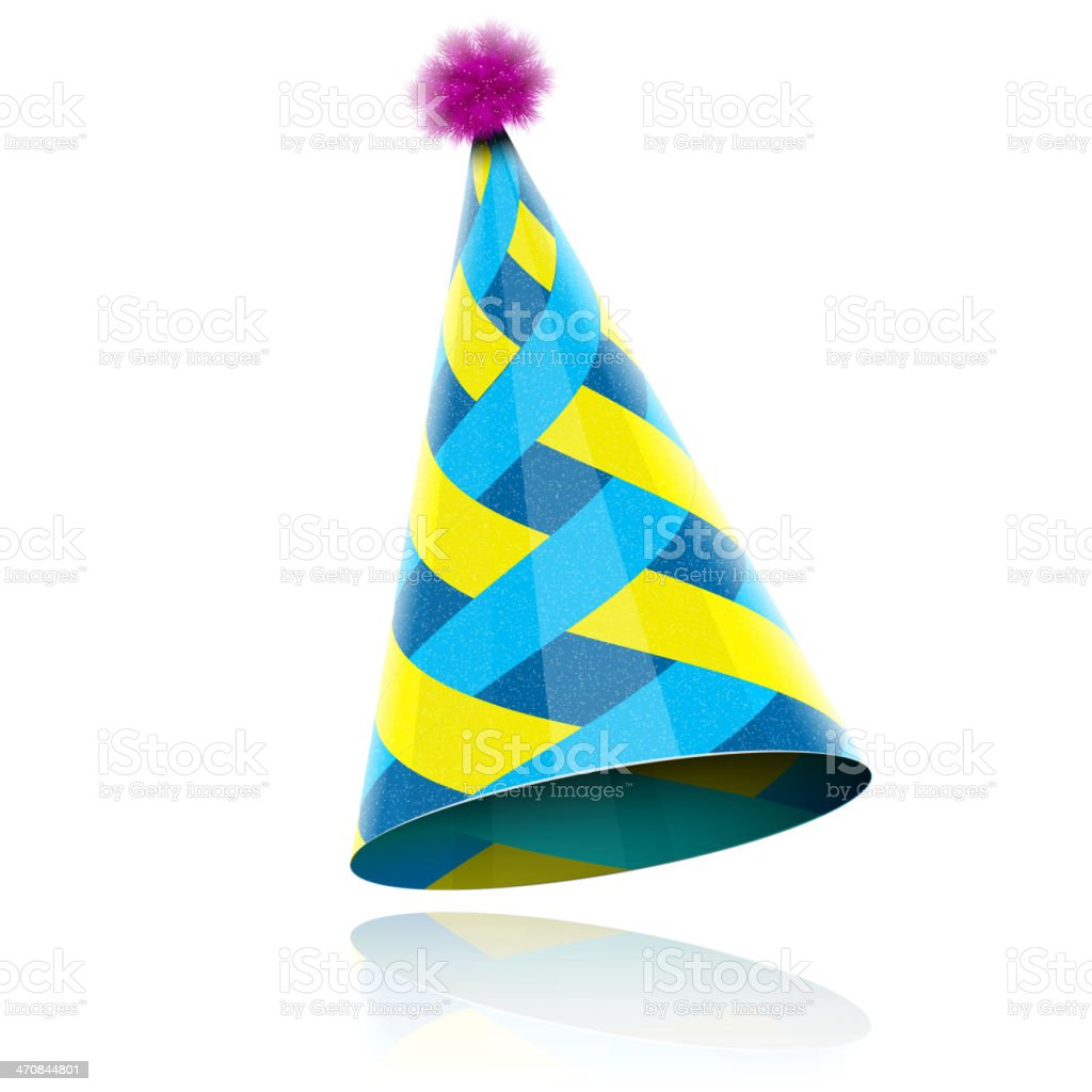 Glossy Cone-like Hat For Event Celebration. vector art illustration
