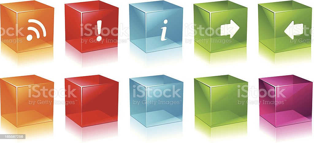 Glossy Cubes royalty-free stock vector art