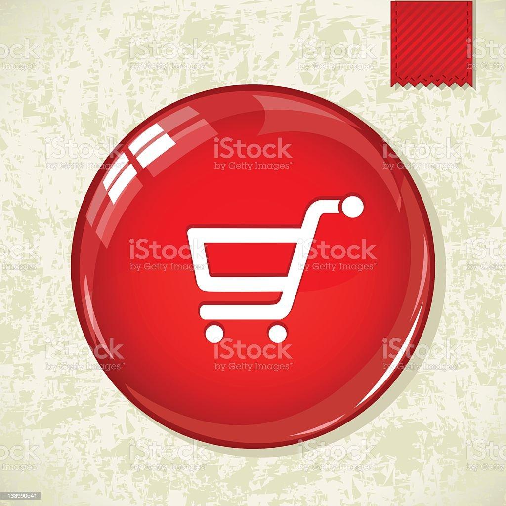 Glossy discount badge royalty-free stock vector art