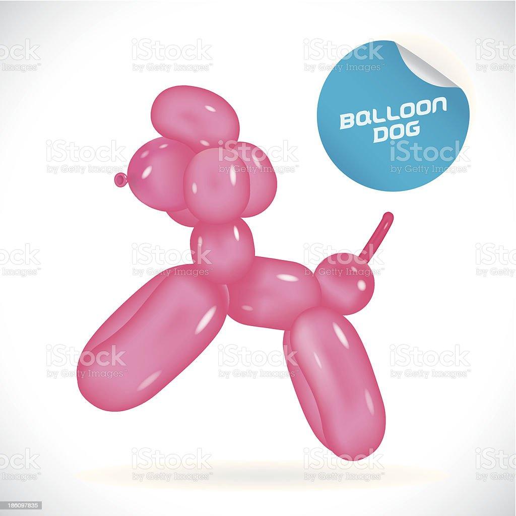 Glossy Dog Illustration vector art illustration