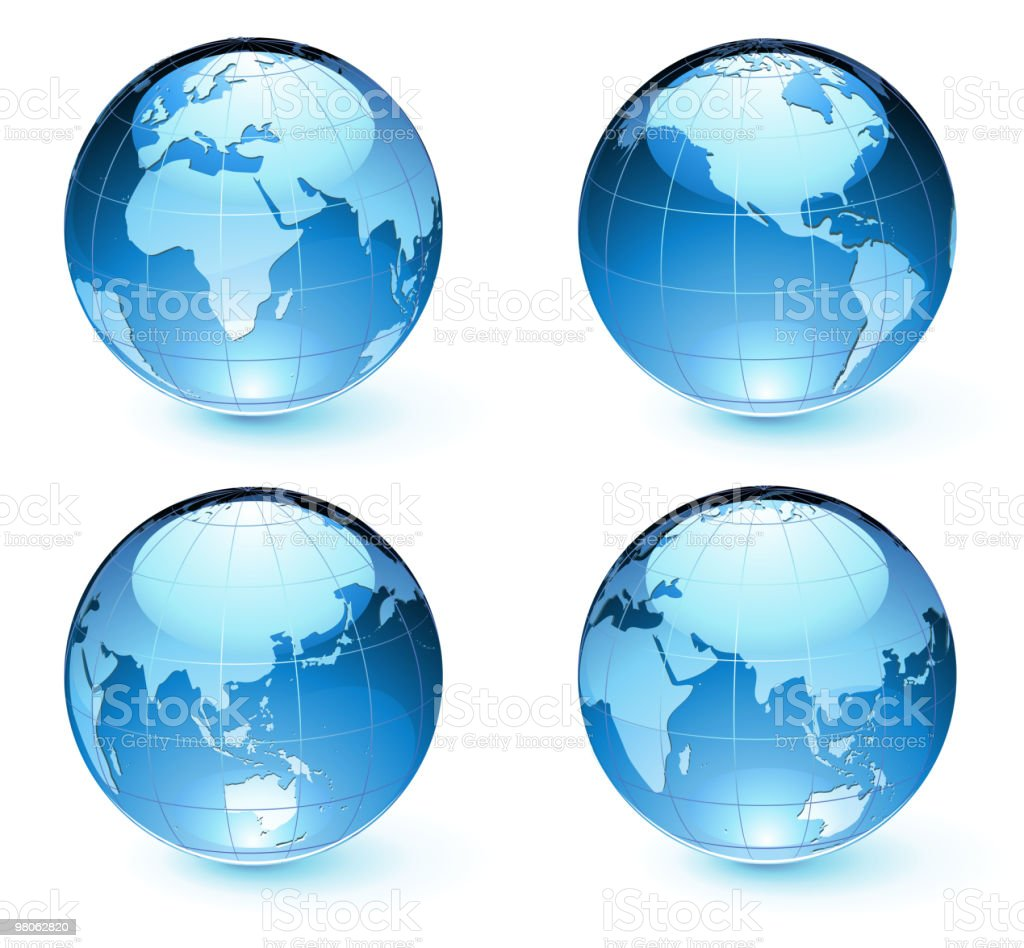 Glossy Earth Map Globes royalty-free glossy earth map globes stock vector art & more images of abstract