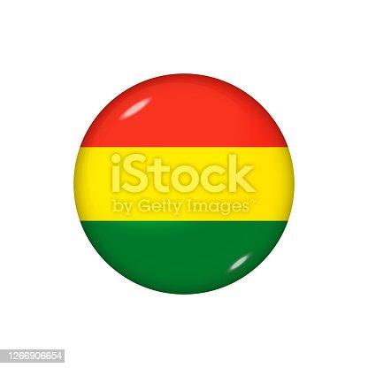 istock Glossy flag icon ofBolivia 1266906654