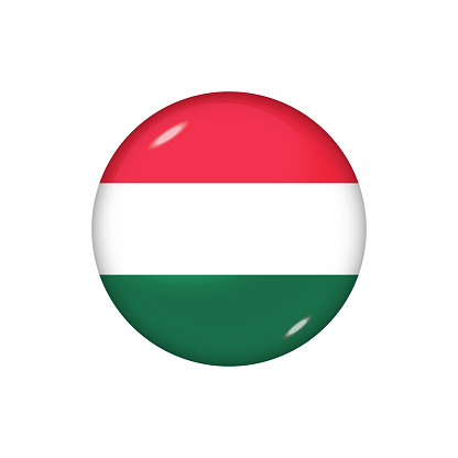 Glossy flag icon ofHungary