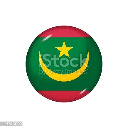 istock Glossy flag icon ofMauritania 1267013220