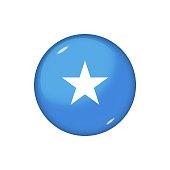 Glossy flag icon ofSomalia