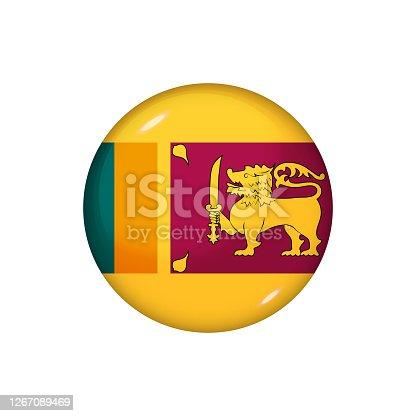istock Glossy flag icon ofSri Lanka 1267089469