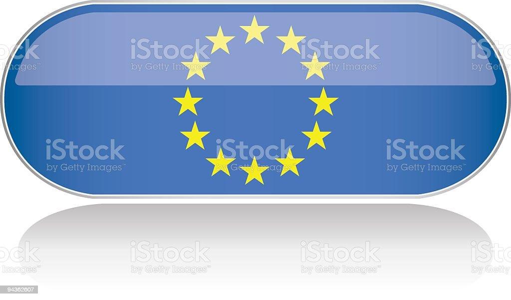 Glossy Flag Series - EU royalty-free stock vector art