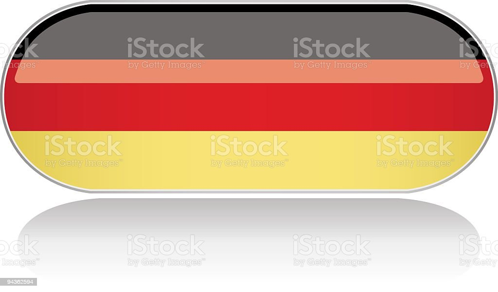 Glossy Flag Series - Germany royalty-free glossy flag series germany stock vector art & more images of black color