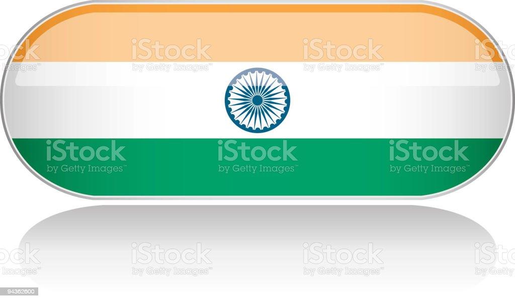 Glossy Flag Series - India royalty-free stock vector art