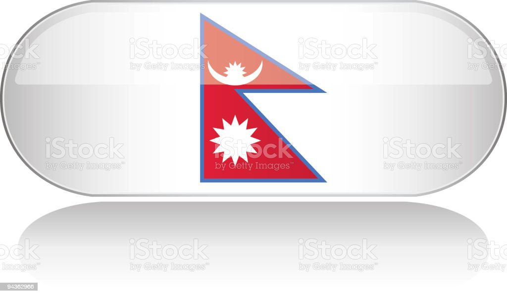 Glossy Flag Series - Nepal royalty-free stock vector art