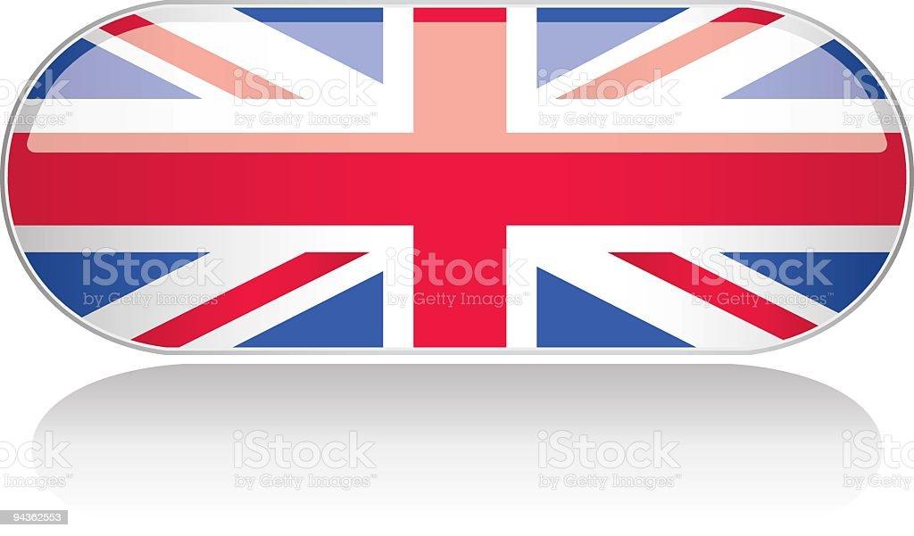 Glossy Flag Series - UK royalty-free stock vector art