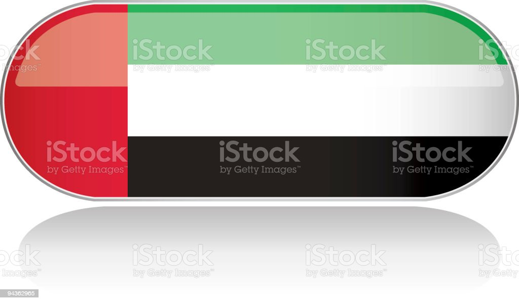 Glossy Flag Series - United Arab Emirates royalty-free glossy flag series united arab emirates stock vector art & more images of arabia