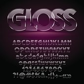 Glossy glass vector letters, symbols, numbers. Contains graphic style