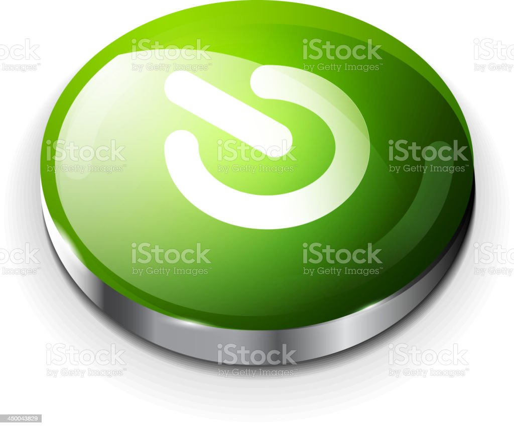 Glossy green power button royalty-free glossy green power button stock vector art & more images of abstract