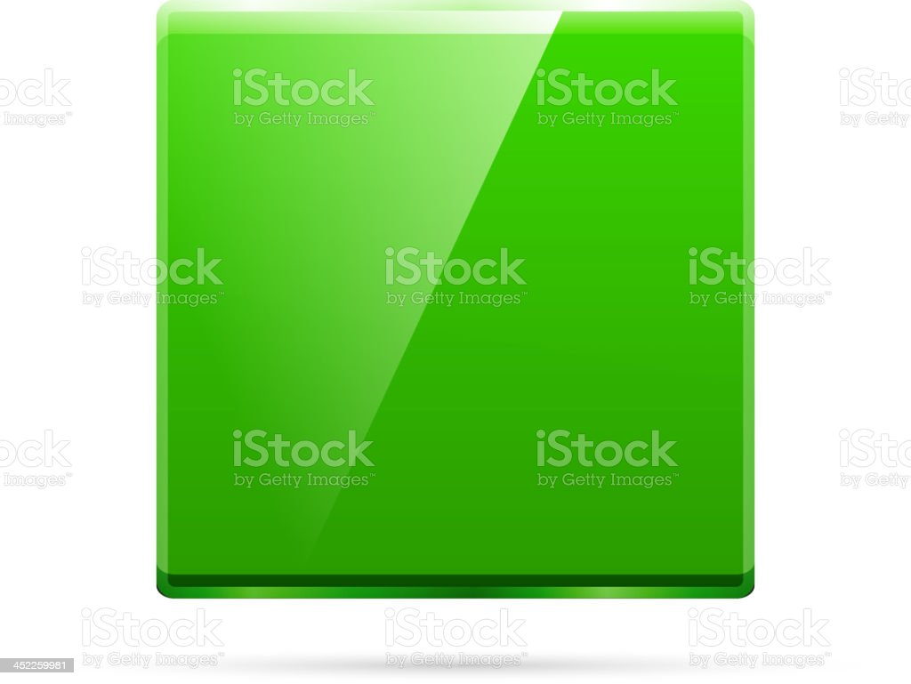 Glossy green square background royalty-free stock vector art