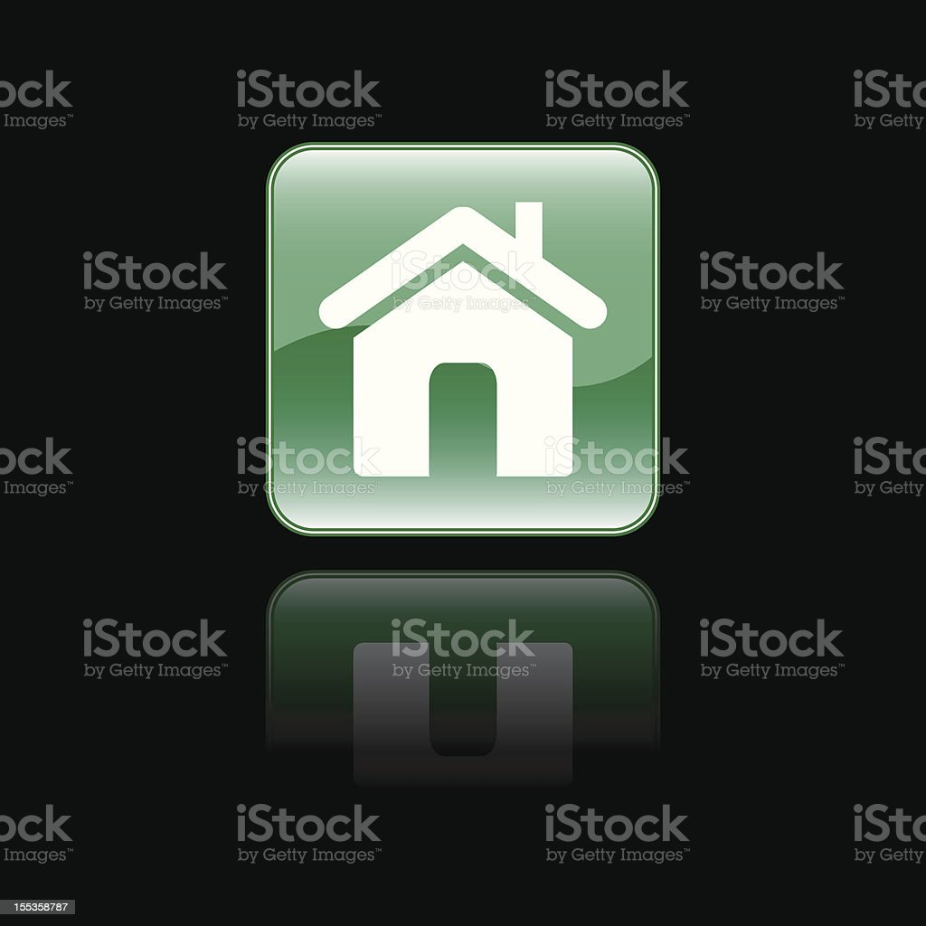 Glossy Home Sign Icon royalty-free stock vector art