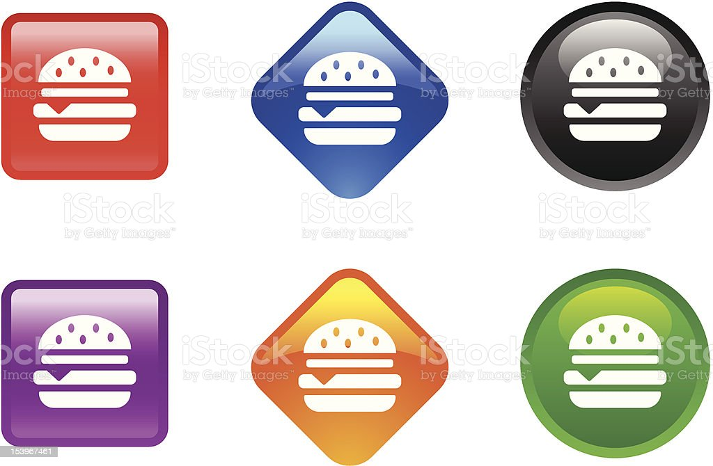 Glossy Icon Series | Burger royalty-free stock vector art