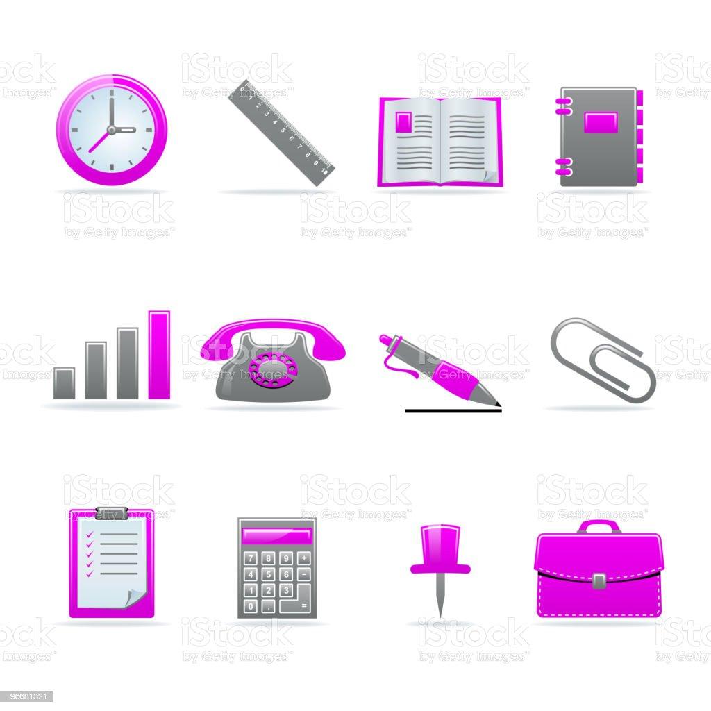 Glossy icon set royalty-free stock vector art