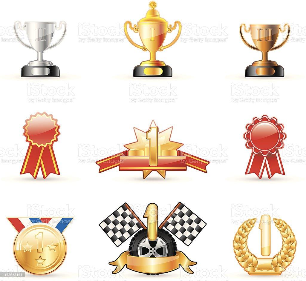 Glossy icon royalty-free stock vector art