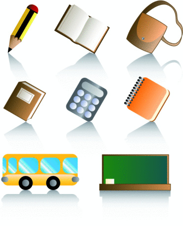 Glossy Icons: Back to school