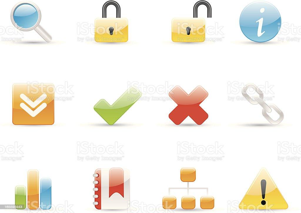 Glossy Icons - Internet vector art illustration