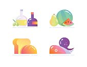 Glossy Icons of Food