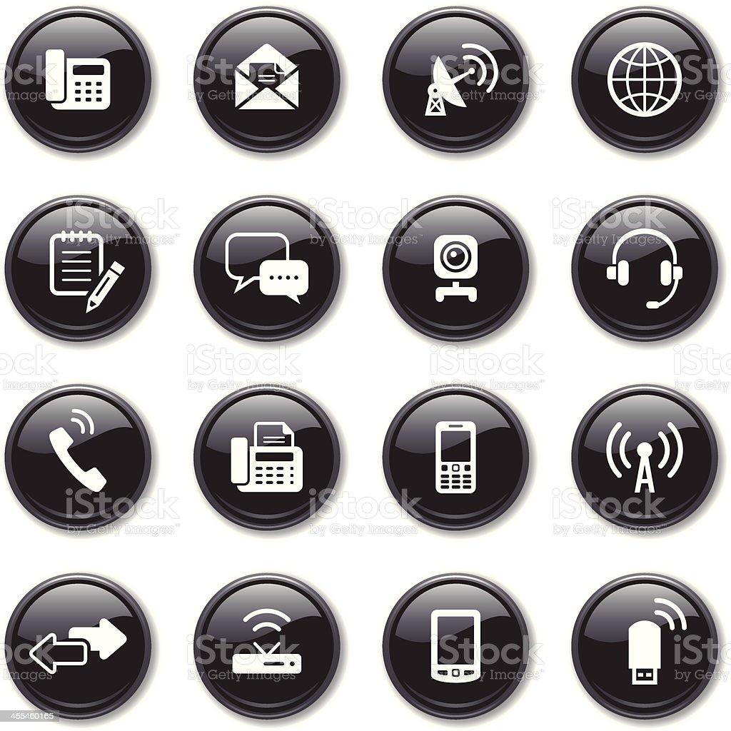Glossy Icons Set | Communication royalty-free stock vector art