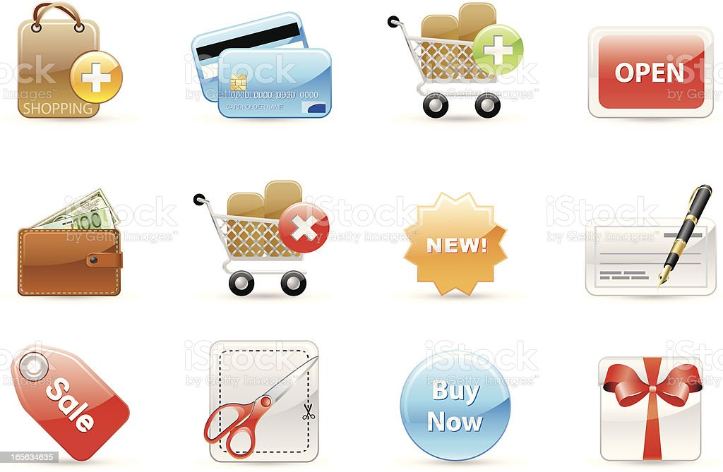 Glossy icons royalty-free glossy icons stock vector art & more images of arranging