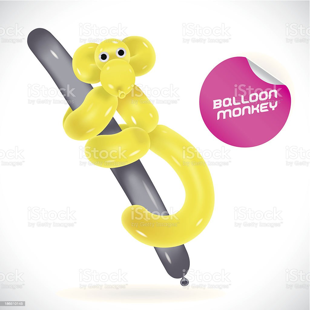 Glossy Monkey Illustration vector art illustration