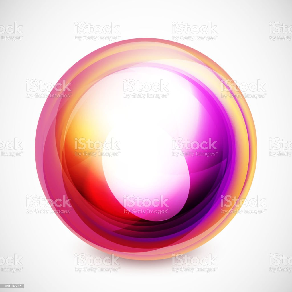Glossy orange and purple abstract shape royalty-free stock vector art