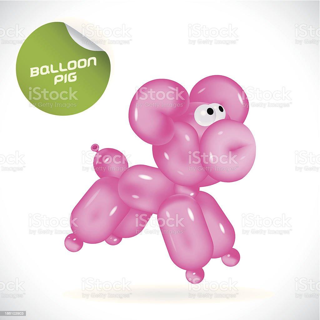 Glossy Pig Illustration vector art illustration