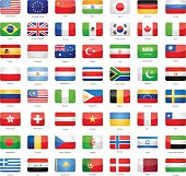 Glossy Rectangle Flags - Most Popular