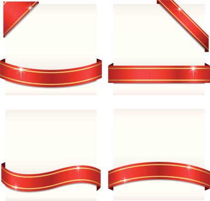 Glossy Ribbon Banners