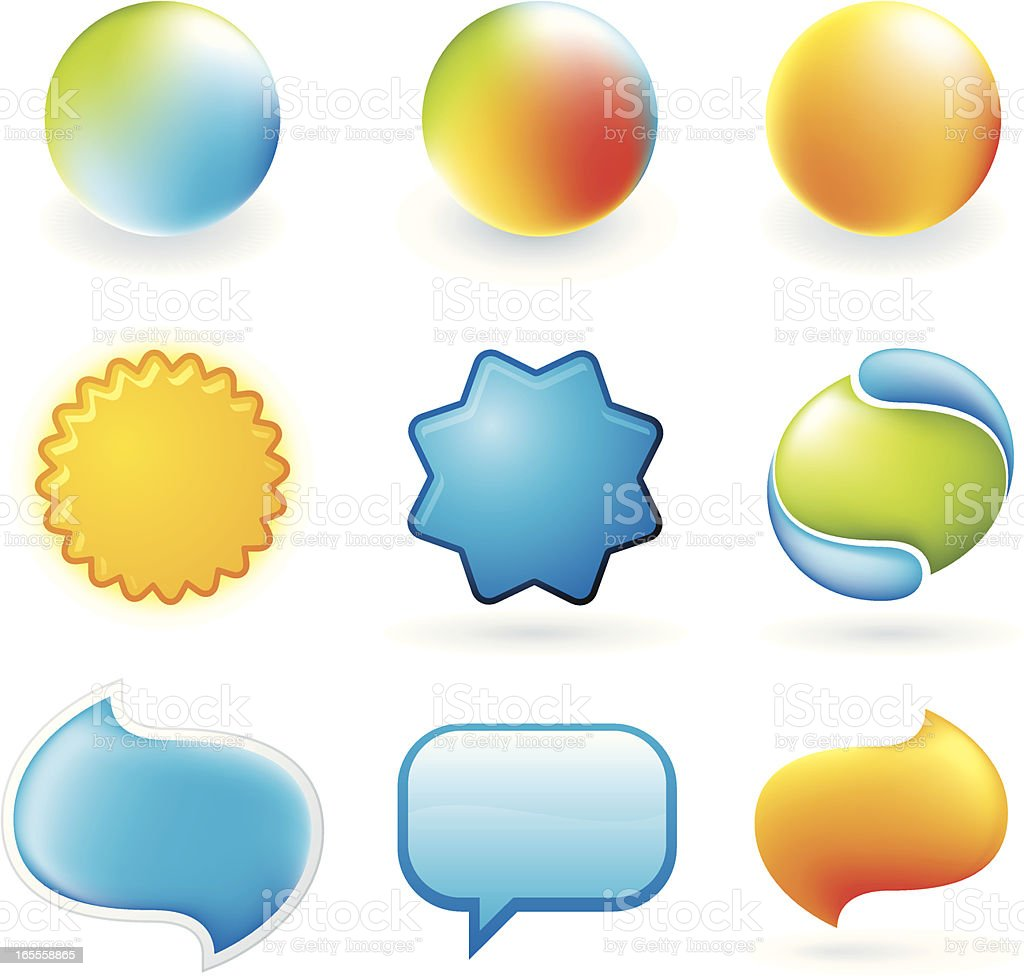 Glossy shapes royalty-free glossy shapes stock vector art & more images of colors