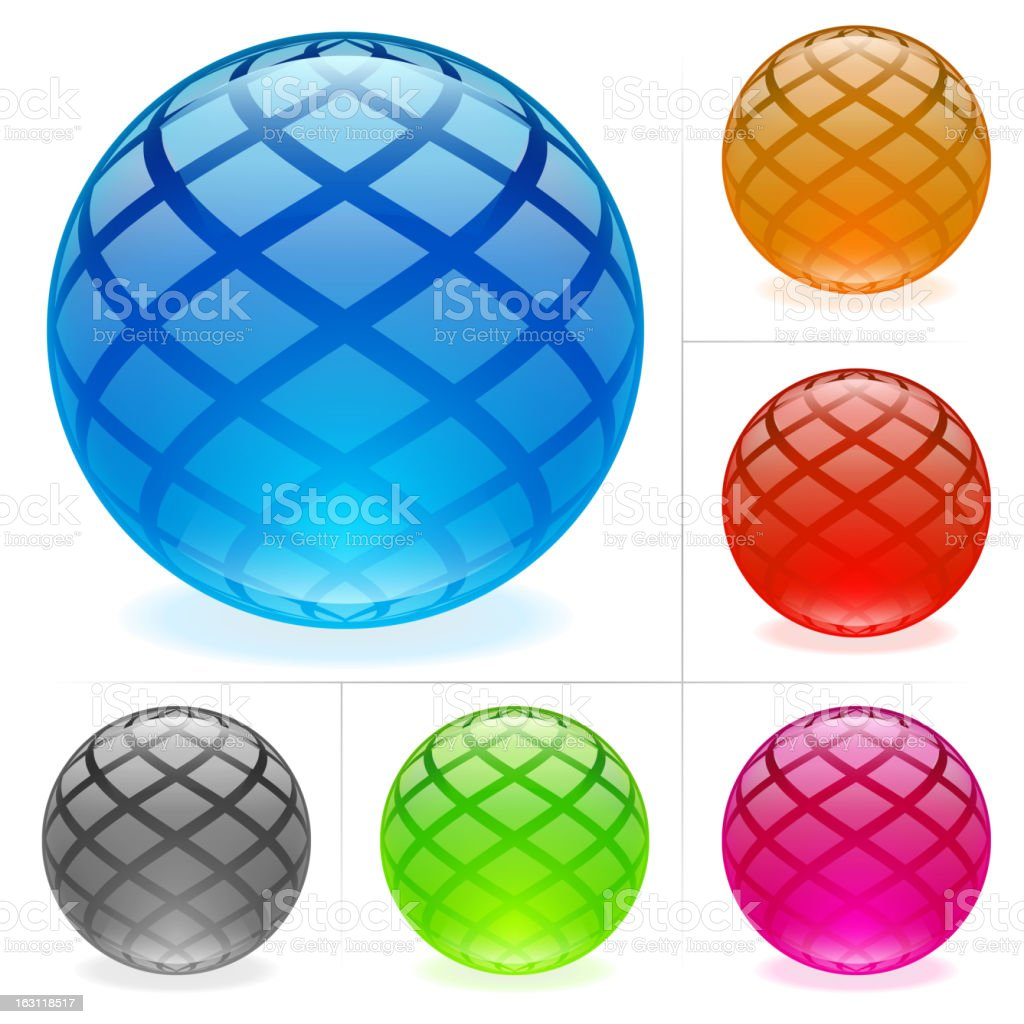 Glossy spheres royalty-free glossy spheres stock vector art & more images of ball