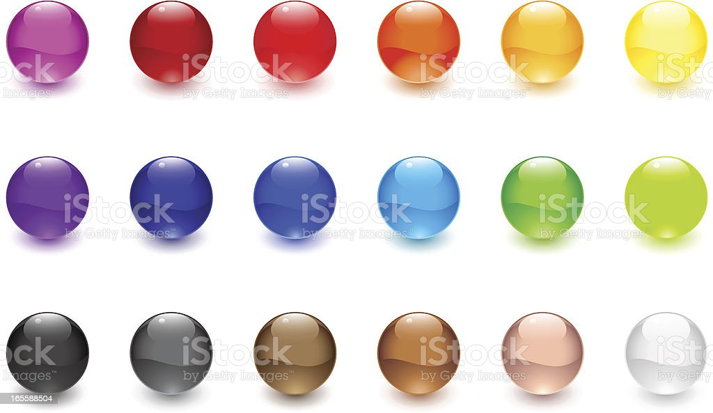 Glossy Spheres vector art illustration