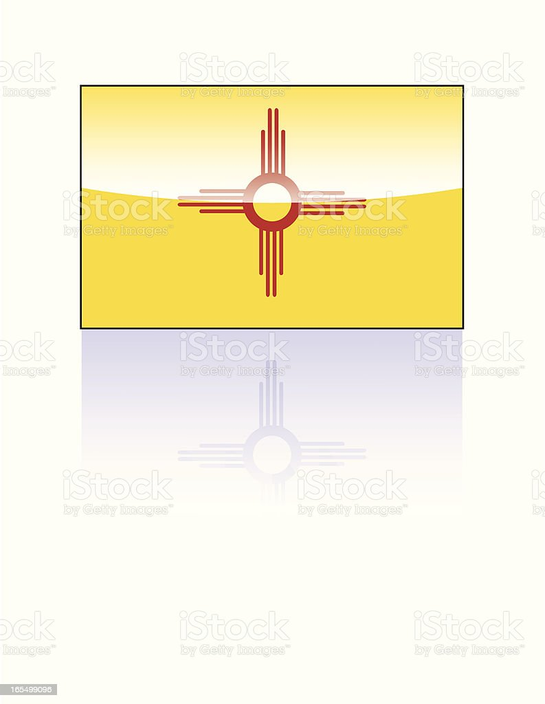Glossy State Flag Series: New Mexico royalty-free stock vector art