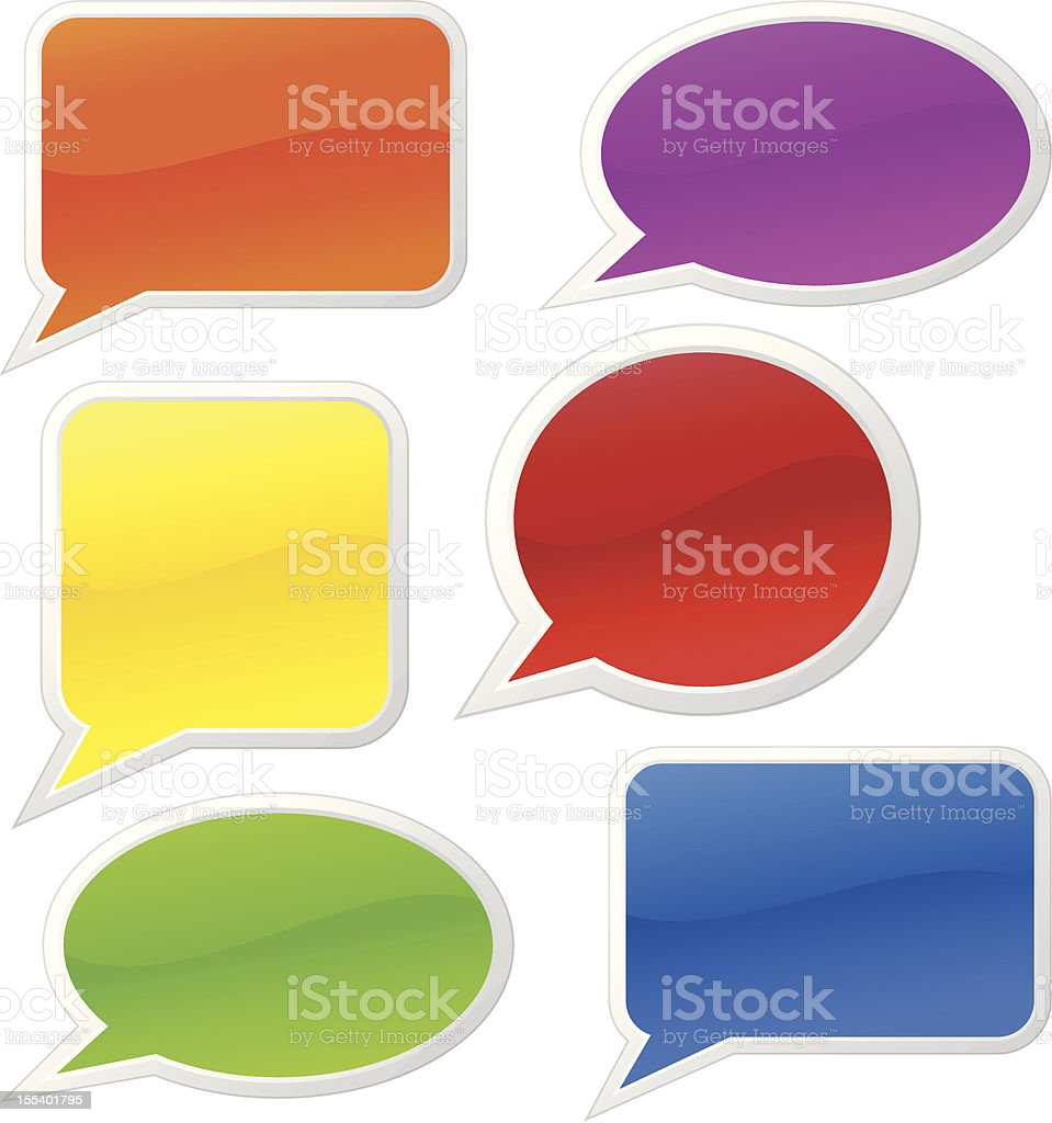 Glossy talk bubbles royalty-free glossy talk bubbles stock vector art & more images of blank