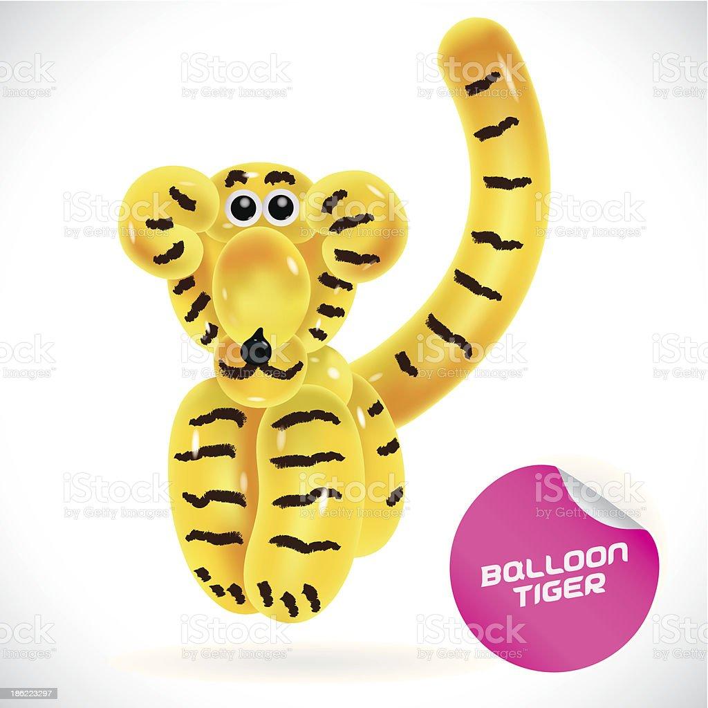 Glossy Tiger Illustration vector art illustration