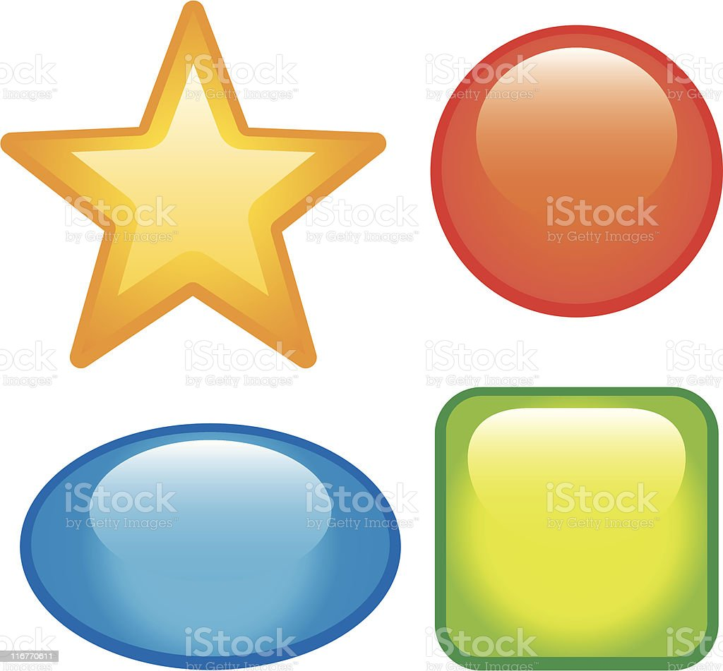 Glossy vector web buttons royalty-free stock vector art