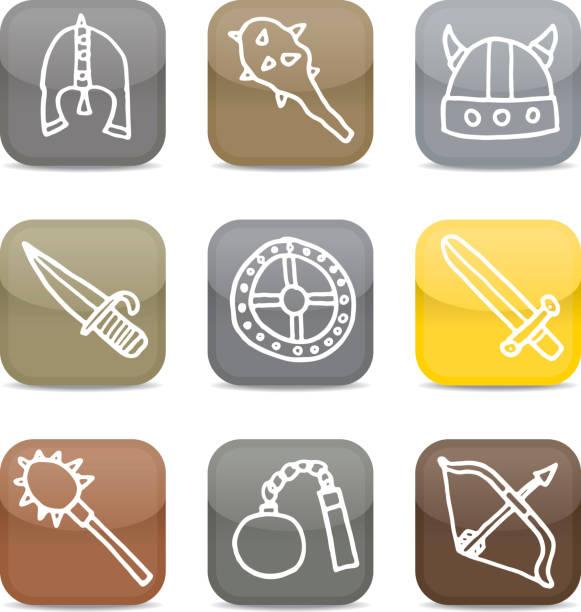Glänzende viking-Symbol Häuserblocks – Vektorgrafik