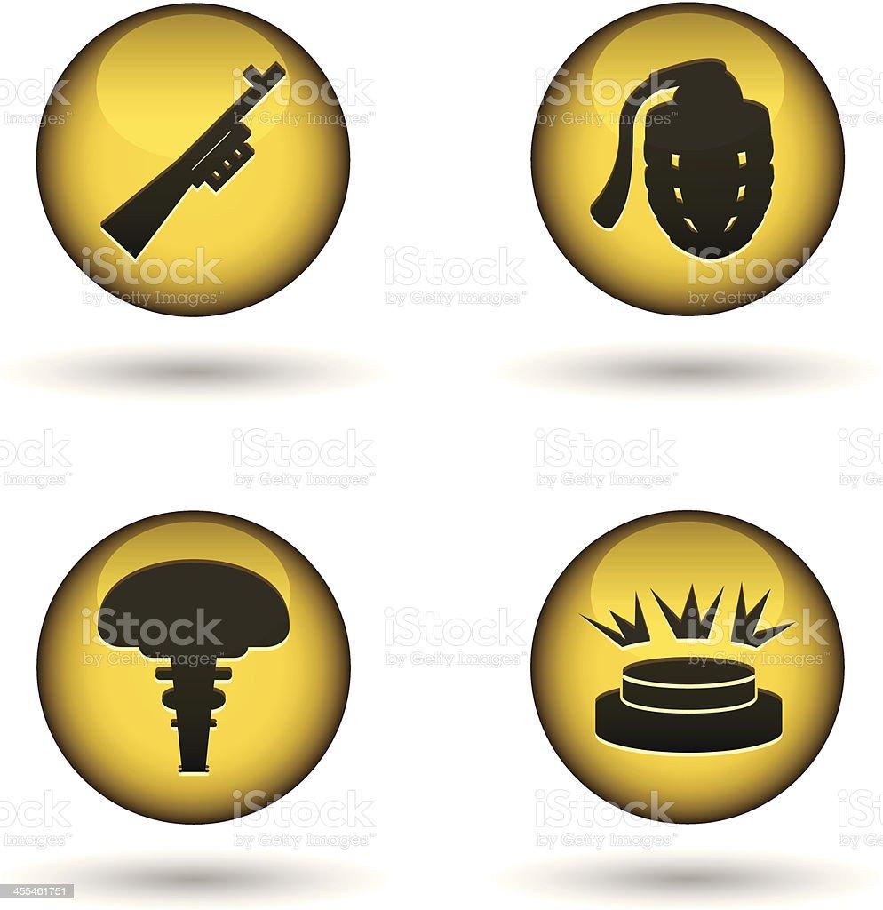 glossy warning balls royalty-free glossy warning balls stock vector art & more images of advice