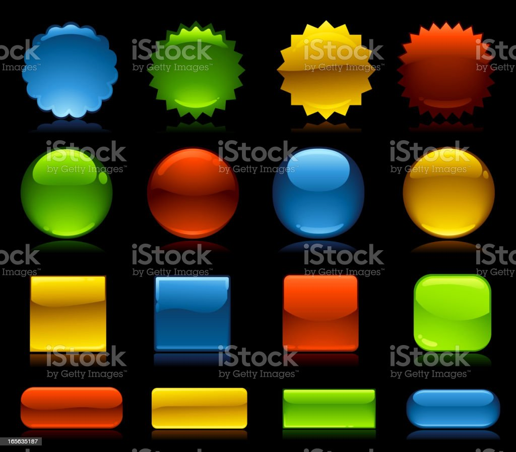 Glossy Web Button Elements