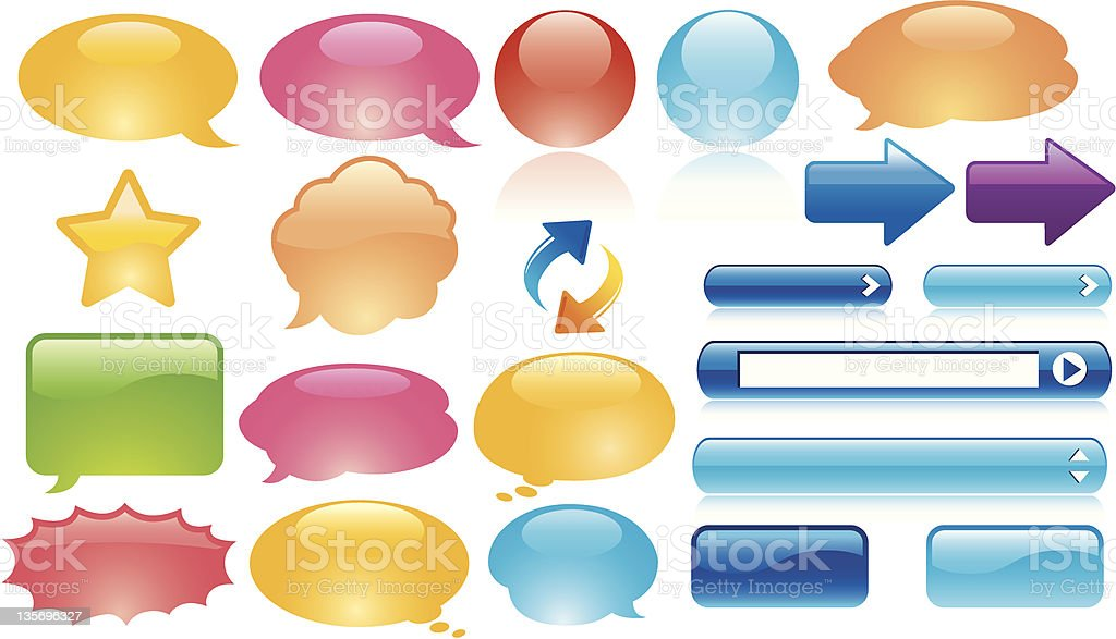 glossy web elements babble royalty-free stock vector art