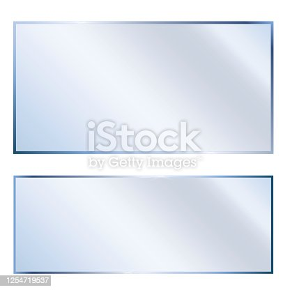 istock Glossy, white glass. Background, transparent texture. Clean, empty plastic. Vector image. Stock Photo. 1254719537